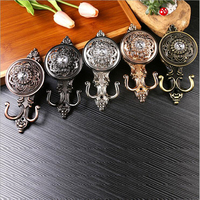 Crystal Curtain Hook European Style Home Decor Pothook Curtain Accessories 1 Pair Rose Bronze Decorative Wall