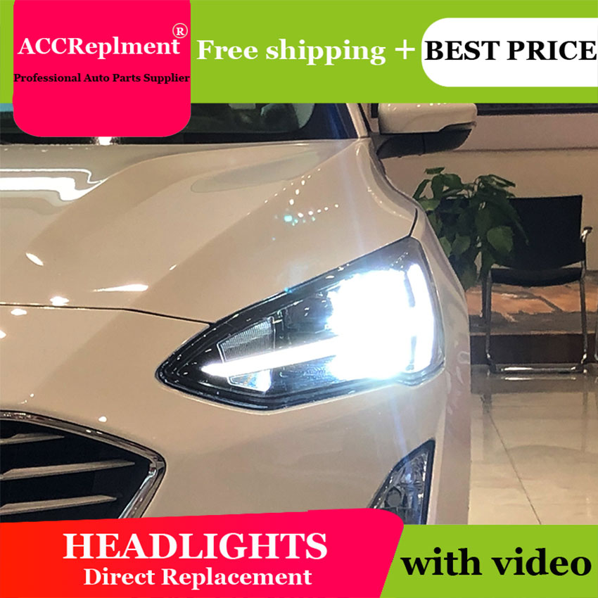 AUTO PRO headlights for Ford Focus 2019 car styling bi xenon lens LED light guide DRL