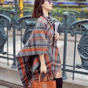 Внешняя торговля оригинальный одного 2016 Новая Англия классический плед кашемир шарф в том числе Г-Жа теплая шерстяная шаль