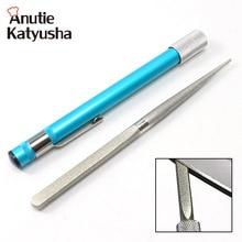 1 комплект Портативный Алмазный точильный камень Ручка палка Тип нож устройство для шлифовальной заточки ножей нож для кухни и охоты ножницы шлифовальный камень