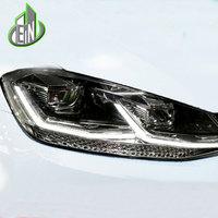 EN Car Styling 2018 For VW Golf7.5 Headlights Golf 7.5 MK7.5 LED Headlight DRL Lens Double Beam H7 HID Xenon bi xenon lens