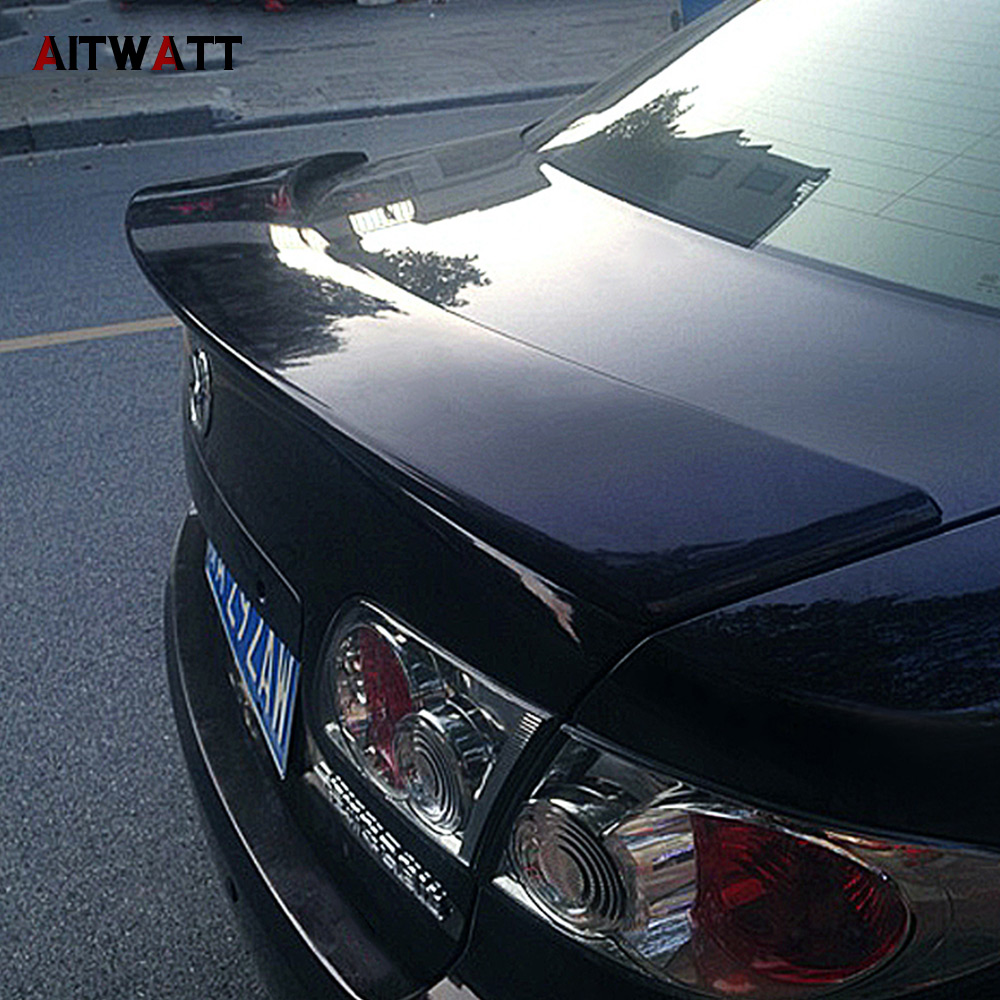 Fit For <font><b>Mazda</b></font> <font><b>6</b></font> 2003-2015 <font><b>Spoiler</b></font> Car ABS Plastic Unpainted Tail Wing Rear Boot Trunk <font><b>Spoiler</b></font> AITWATT image