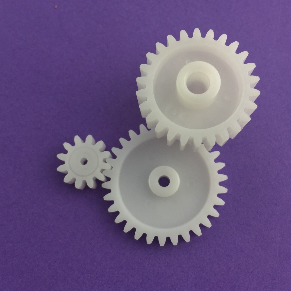 3pcs Lot J202y M1 Plastic Gears 12t 30t 26t Module 1 Combination Reduction Gears Diy Free Shipping Russia