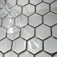 Free Shipping 26mm Honeycomb Pattern Stainless Steel Metal Mosaic Tile Silver Color HME8050 Homer Mosaic 11