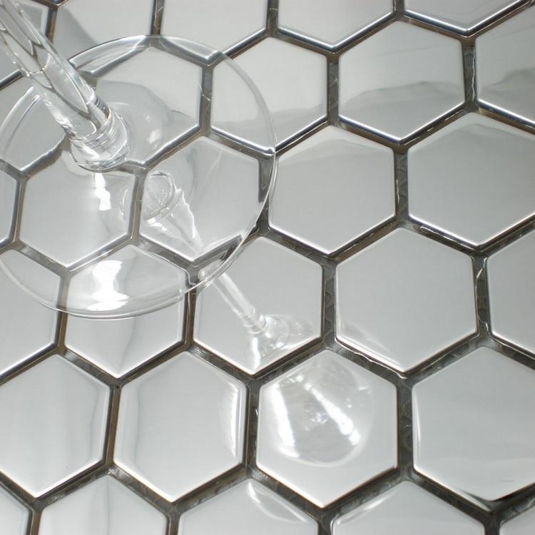 Silver Color Metal Jali Pattern : Modern style honeycomb pattern stainless steel metal