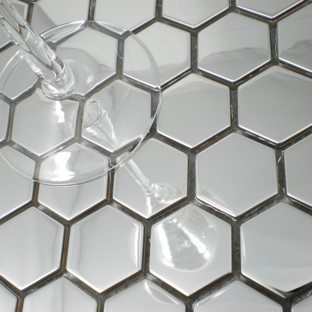 mosaic tile silver color metal mosaic wall tile backsplash hme8050