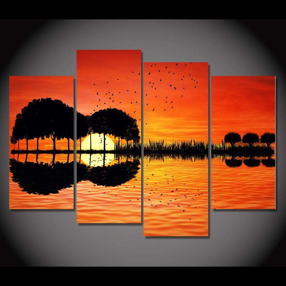 Sunset Canvas Wall Art