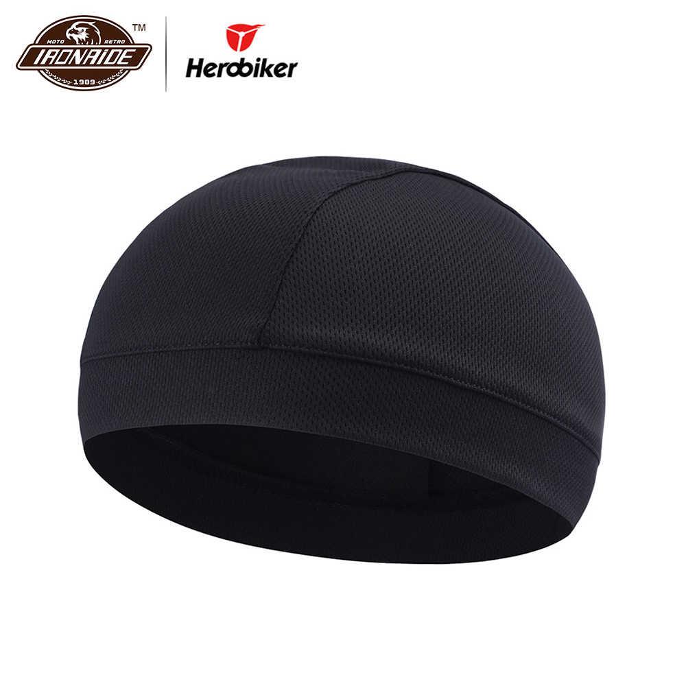 be753b0302c HEROBIKER Motorcycle Under Helmet Liner Hat Face Mask Men Women Breathable  Quick Drying Moisture Wicking Helmet