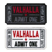 Embroidered Badge Valhalla Hall Tactical Costumes Vickers Black White Mad Madison Denim Jacket Decorative Badge Cloth(China)