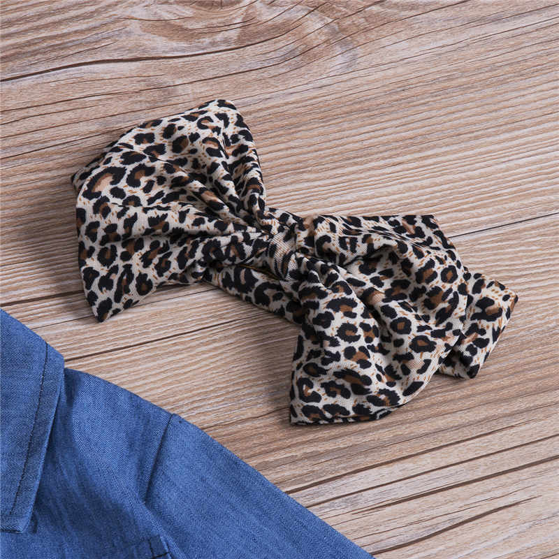 f503ed13 ... PUDCOCO 3PCS Toddler Kids Baby Girl long Sleeve Denim Shirt+Skirt Dress+Headband  Outfits