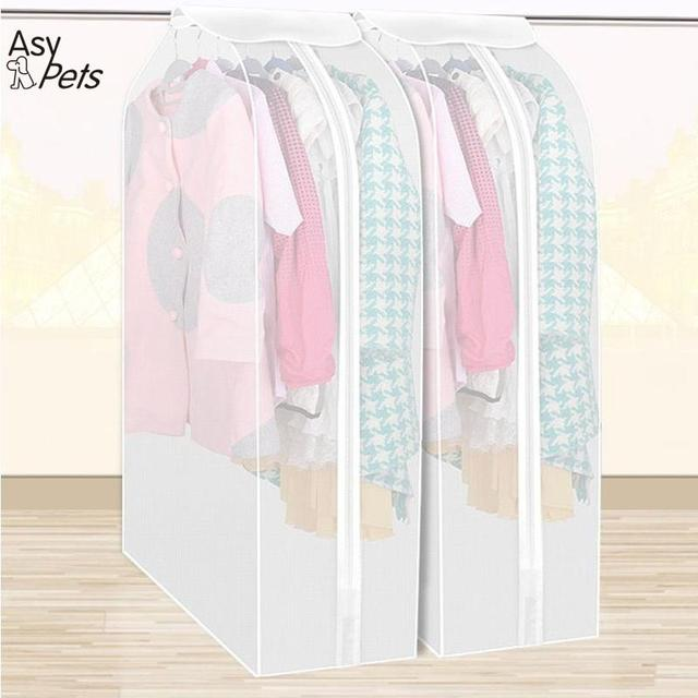 AsyPets Clothing Dress Garment Suit Coat Cover Prevent Dust Dirt Cover  Clothes Protector Wardrobe Storage Bag