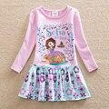 NEAT рождество детские девушка одежда софия первый принцесса платье девушки платья детская одежда С Длинным рукавом платье Q923
