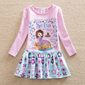 NEAT christmas baby girl clothes sofia the first princess dress girls dresses lace kids clothes Long sleeve dress Q923
