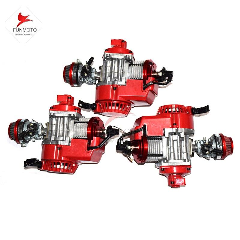 Moteur 49cc 3 pièces avec cylindre/piston/carburateur/filtre à air amélioré de mini vélo de saleté KXD LIYA HIGHPER NITRO SSR 30 RACING