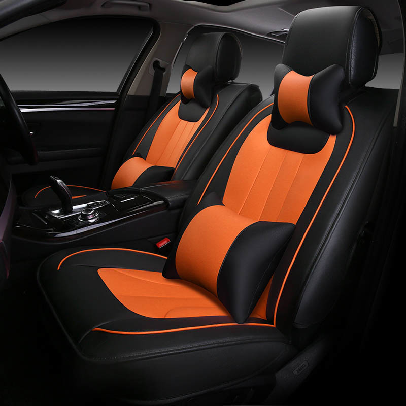 Luxury leather car seat cover for auto mercedes w212 bmw f30 vw tiguan golf polo bmw g30 skoda cars accessories car-styling scooterplus водолазки