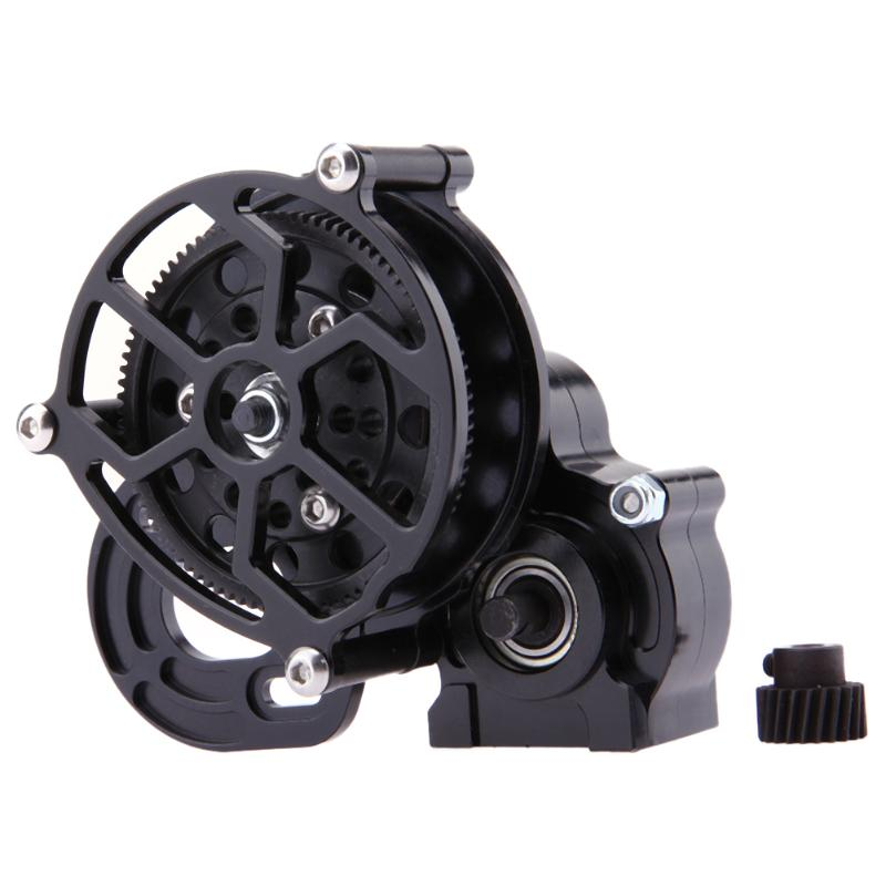 RC Crawler All Metal Transmission Center Gearbox Parts for 1/10 Axial SCX10 1pc black 1 10 rc crawler scx10 metal aluminum transmission center gearbox for 1 10 axial scx10 gear box