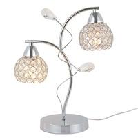 Роскошная хрустальная прикроватная хрустальная лампа в форме листа  современная Хрустальная настольная лампа для спальни  гостиной  комна...