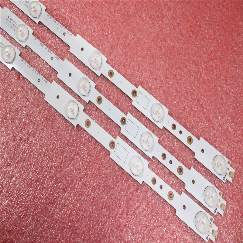 3pcs X FOR Skyworth 32E350E 32E320W 32E306C SW323228 07 LBUA-SDL320X1-S08B SW 32 3228 07 REV1.4 580MM TV Strips 1Set =3Pcs