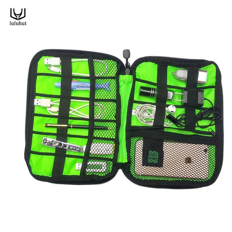 Luluhut mode organisateur système kit cas USB câble de données écouteurs fil stylo puissance banque sac de stockage numérique appareils gadget voyage