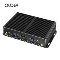 OLOEY Industrial Mini PC Intel Core i7-4500U Windows Linux 2 * Gigabit Ethernet 6 * RS232/RS485 HDMI VGA 8 * USB WiFi Watch Dog