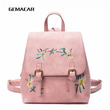 цены Fashion Female Backpack Embroidery Chinese Style Young Lady Bagpack Exquisite Simple Girl School Backpack Flower