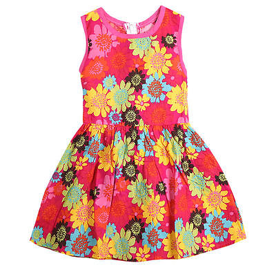 Monkids Summer Toddler Kids Girl Clothing Dresses Beautiful Flower Dress Princess Sleeveless Floral Lace Pierced  Dress RED
