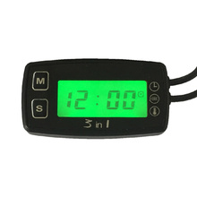 3 in 1 TEMP METER thermometer voltmeter clock temperature SENSOR voltage meter for pit bike motorcycle snowmobile atv boat oil