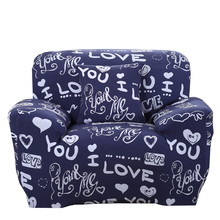 Polyester Blue Love Corner/Corner Sofa Covers For Living Room Universal Stretch Furniture Cover Multi-size Home Decoration Cover
