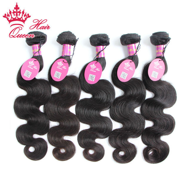 Queen Hair Products 8A 5PCS Natural Color Human Hair Weave Body wave 15% Off Free Shipping Unprocessed Brazilian Virgin Hair