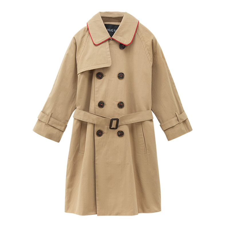 цены 6 to 16 years kids & teenager girls khaki double breasted belted trench jacket & coat children fashion fall winter outwear