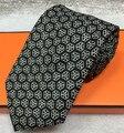 2016 nuevo llega el h seda corbata de negocios de calidad ocasional lazo masculino corbata de seda, regalo de cumpleaños de Los Hombres W 7.5 CM Lazos