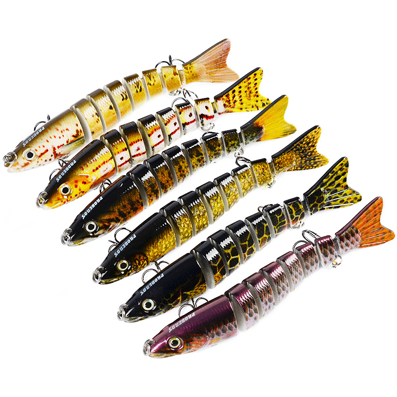 12cm Fishing Sports Freshwater Perch Bait Lifelike Multijointed Fishing Lures Crankbait Swimbait Tackle