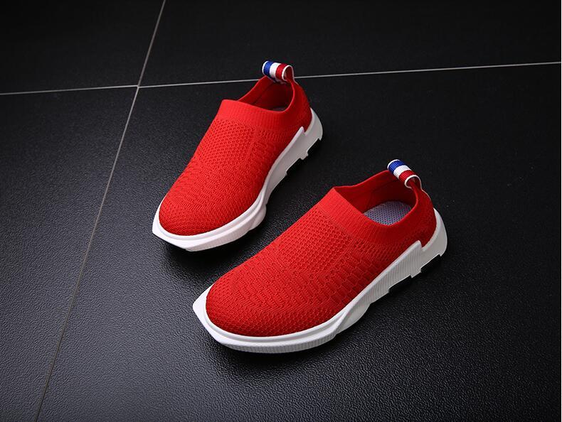 Бесплатная доставка 2018 детская Ботинки и туфли для мальчиков и девочек спортивные туфли дышащие ga35
