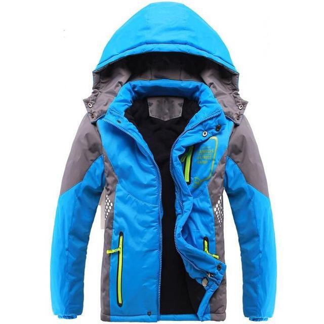Winter Thicken Children Outerwear Warm Coat Sporty Kids Clothes Double-deck Waterproof Windproof Boys Girls Jackets For 3-14T