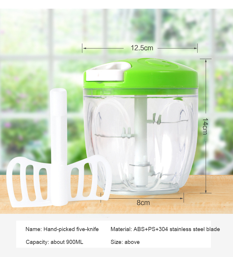 HTB18m1iXPzuK1Rjy0Fpq6yEpFXac 900ML Powerful Meat Grinder Hand-power Food Chopper Mincer Mixer Blender to Chop Meat Fruit Vegetable Nuts Herbs