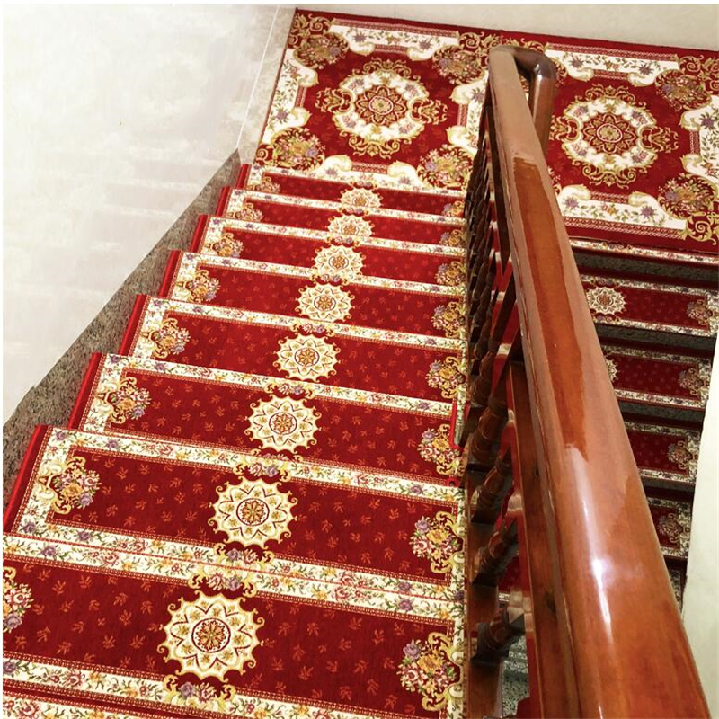 beibehang High-end household stair mat non-slip stair mats from glue new self-priming stairs carpet custom corner full thick pad