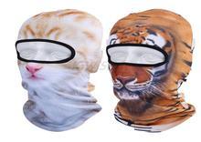 3D Животных Hat Тигр Cat Лыж Лица Ветер Шеи Мотоцикл Маска Ветрозащитный Проветрить Пыли Балаклава Тактическая Шапочка Veil Гуд Cap