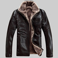 Hot Sale Winter Thick Leather Garment Casual flocking Leather Jacket Men's Clothing Leather Jacket Men 1813