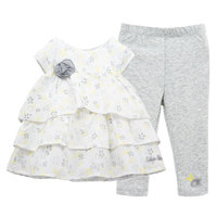 Hot Sale Summer Children S Girls Clothing Baby Clothing Short Sleeve Two Pieces Top Pant Of