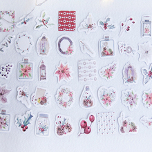 45pcs/pack flowers of Christmas paper sticker self-adhesive decoration label for Christmas greeting cards p dyson prelude for organ greeting on christmas morning