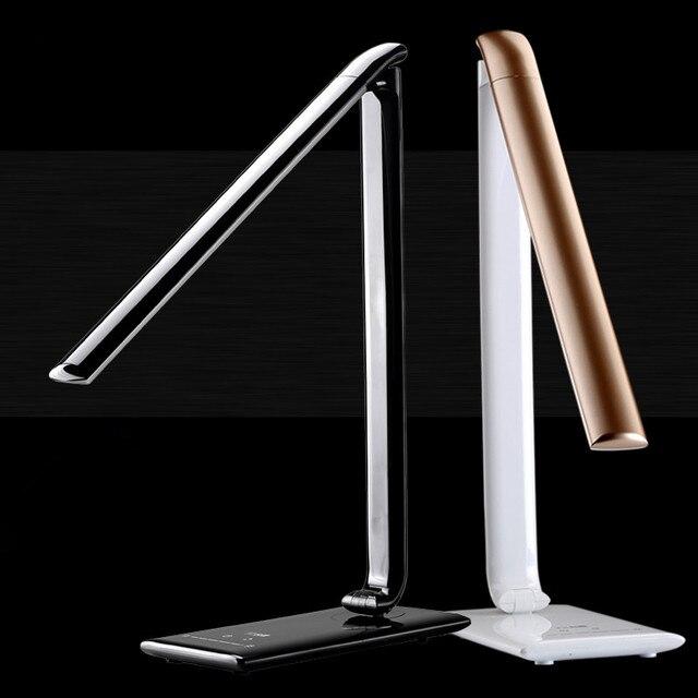 Лучший 7 Вт диммирования из светодиодов настольная лампа для чтения цвет Temerature изменчива 72 шт. из светодиодов лампы прикоснуться современную из светодиодов настольная лампа лампада toalha-де-меса