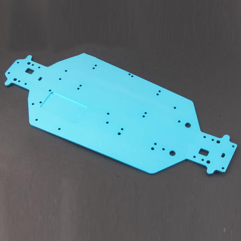 HSP 04001 <font><b>03601</b></font> Aluminum Chassis Upgrade Parts for EP 1/10 Buggy XSTR Monster Truck BRONTOSAURUS 94111 94107 Redcat Volcano EPX image