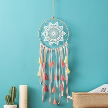 Dream Catcher Wind Chimes Handmade Dreamcatcher Feathers Night Light Decorations Car Wall Room Hanging