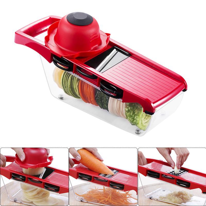 ABEDOE 6 in 1 Mandoline Peeler Grater Vegetables Cutter tools Carrot Grater Onion Vegetable Slicer Kitchen Accessories