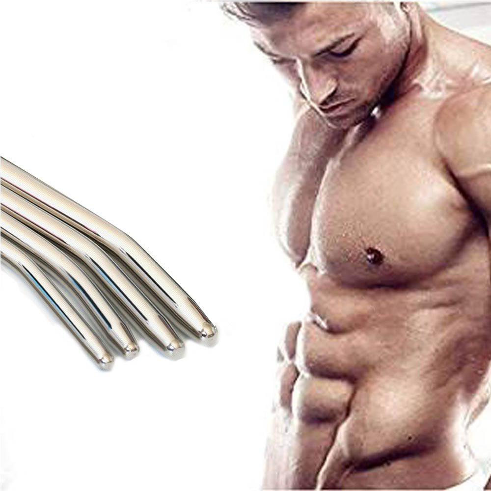 Adult Male Metal Urethral Dilators Stainless Steel Penis Plug Long Catheter Plug Metal Expander Sex Toy Massager