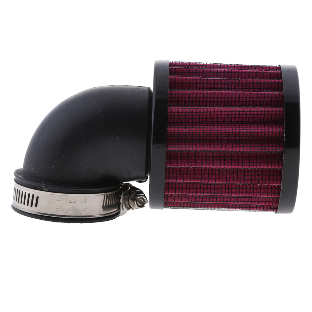 Image 3 - 1 Pcs Universal Air Cleaner Intake Filter System Washable & Reusable For 45 48mm Inner Diam Pipe Car Motorcycle ATV Scooter Etc-in Air Intakes from Automobiles & Motorcycles