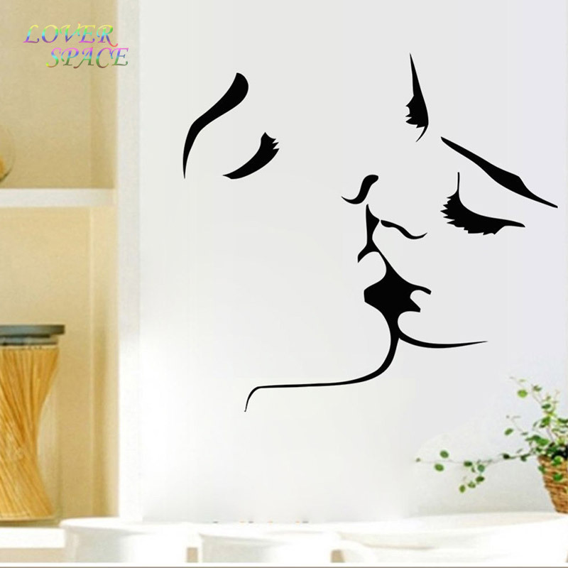 New Sexy Kiss Quote Wall Sticker Wallpaper Wall Decals Art Mural Home  Wallpaper Wall Stickers Home