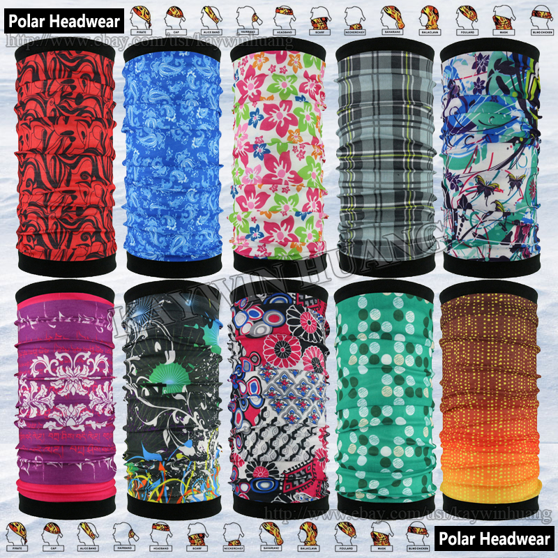 Winter Sun Wind Protection Snowboard Ski Scarf MultiPurpose Headwear Outdoors Reversible Polar Fleece Tube Bandana Neck Warmer