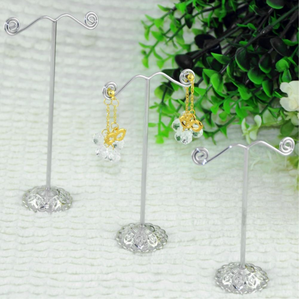 3x Metal Earring Display Stand Jewelry Organizer Holder Transparent