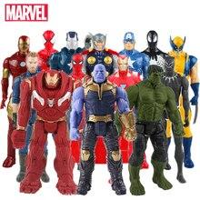 Marvel Toys The Avenger Endgame 30CM Super Hero Thor Captain Thanos Wolverine Spider Man Iron Man Action Figure Toy Dolls